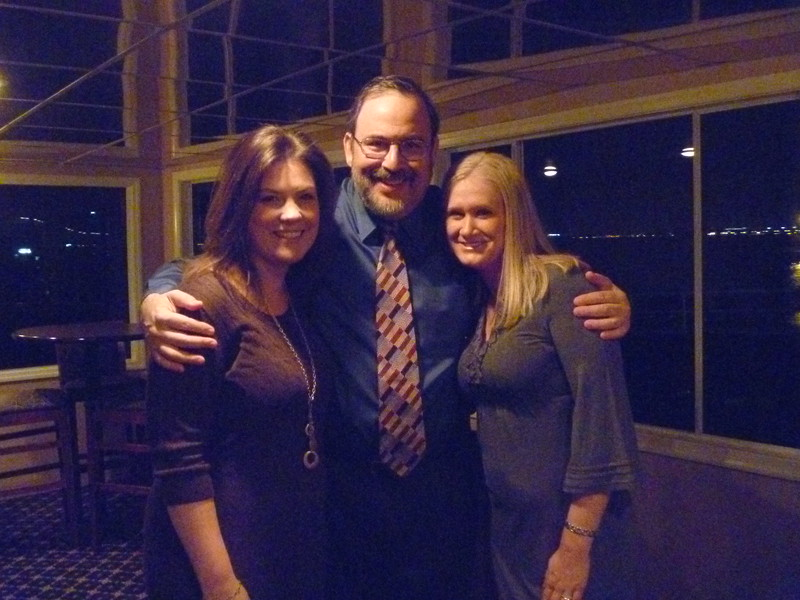 Nicole Ratner and Kimmy Livingston with Past President Marty Davidoff.