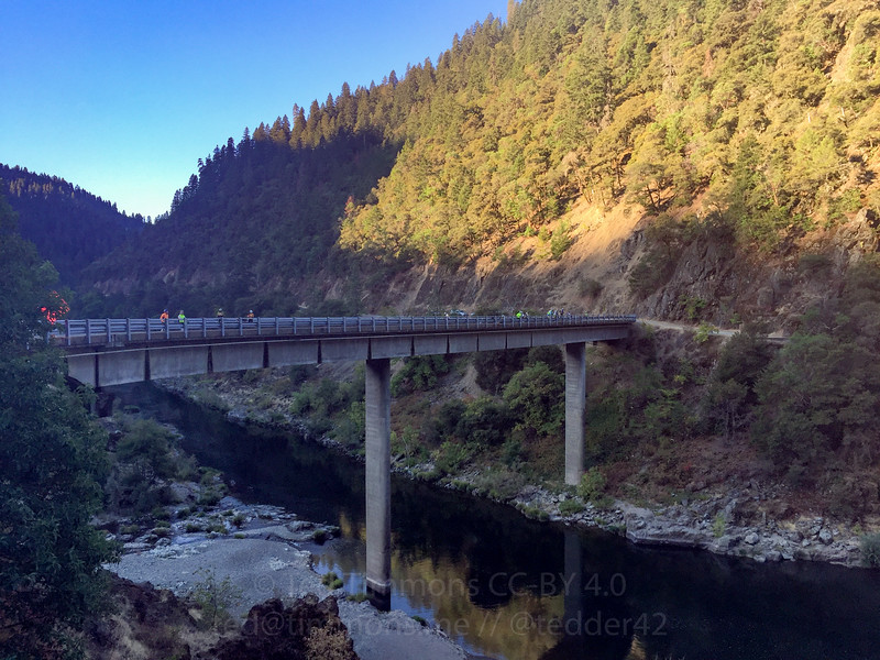 Looking at the Grave Creek/Rogue River bridge.