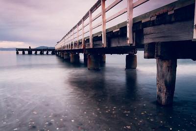 Lone Fisherman - Seatoun Wharf