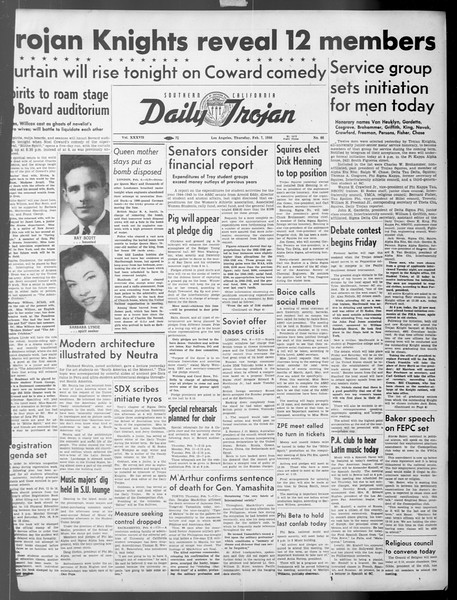 Daily Trojan, Vol. 37, No. 66, February 07, 1946