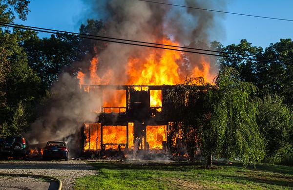 Multi Alarm Structure Fire - 15 Whitehall Avenue Sprague, CT -  7/18/16