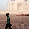 Sweeper at the Taj Mahal, Agra, India