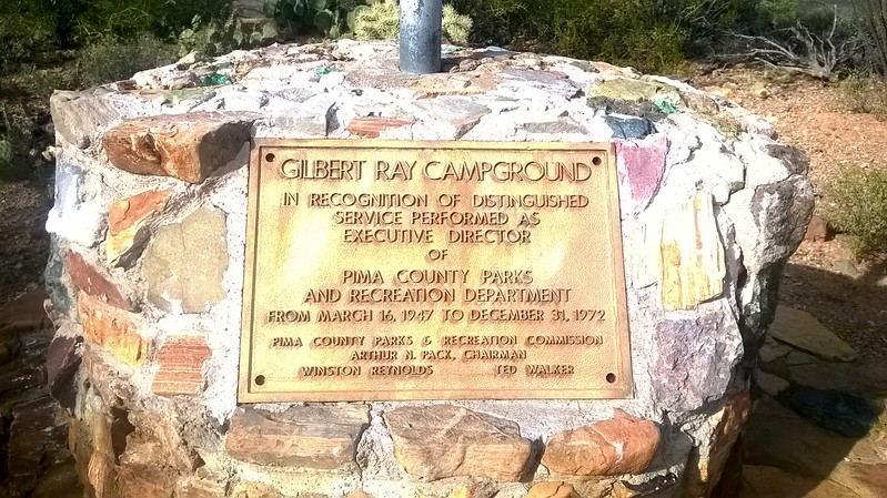 Gilbert Ray Dedication Placquard