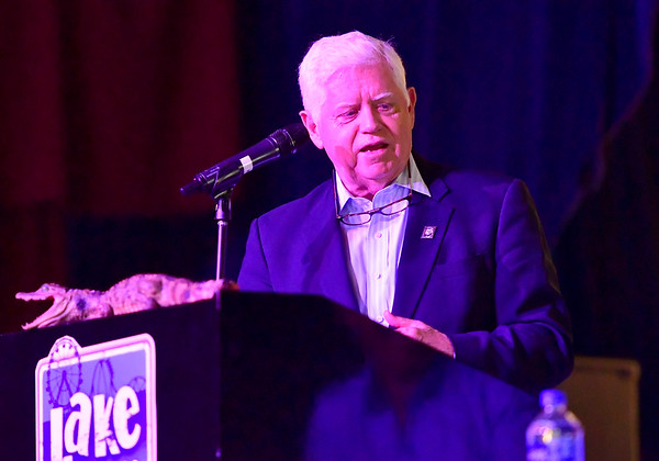 9/6/2019 Mike Orazzi | StaffrConnecticut's 1st congressman John Larson during the 138th Annual Crocodile Club Dinner at Lake Compounce on Friday.
