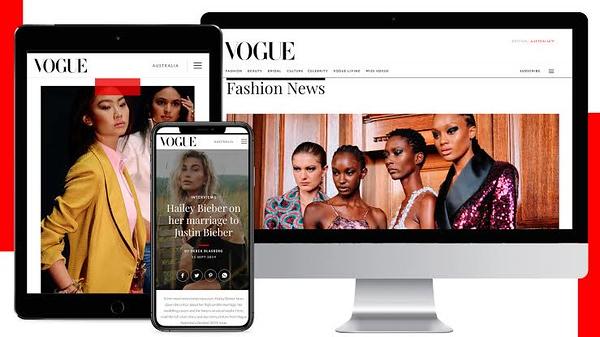 Vogue Australia website revamp (photo credit: Vogue,com.au/News Corp Australia)