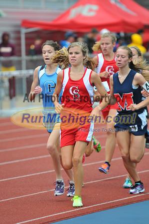 Girl's 3200 Meter Run, Gallery 2 - 2012 MHSAA LP D2 T&F