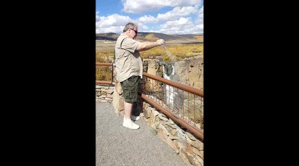 Mom at North Clear Creek Falls.mp4