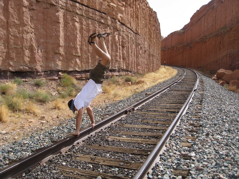 Andres Calderon - Train Tracks Near Corona Arch - Moab, Utah