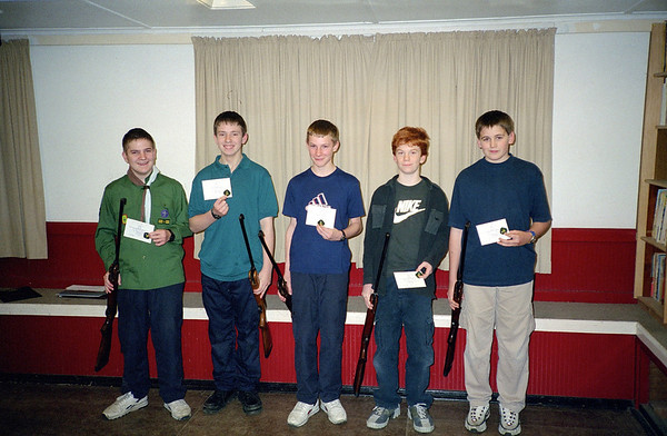 Scout Shooting Prize Giving 2002