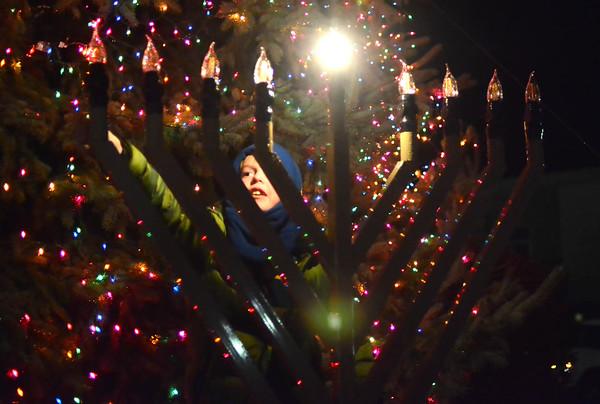 First Menorah Lighting in North Adams - 120218
