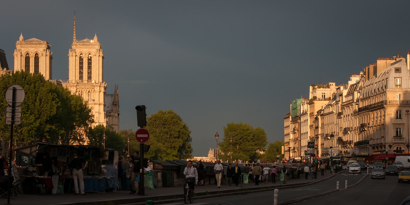 Quai des Grands Augustins, Notre Dame and Place St. Michel in the background