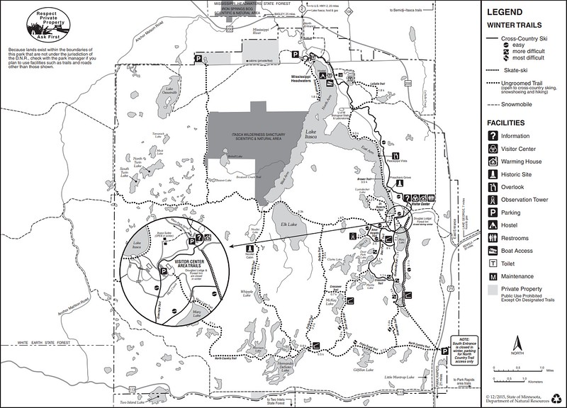 Itasca State Park (Winter Map)