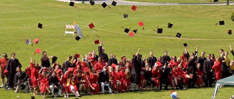 The graduates celebrate   (Jun 05, 2005, 02:18pm)