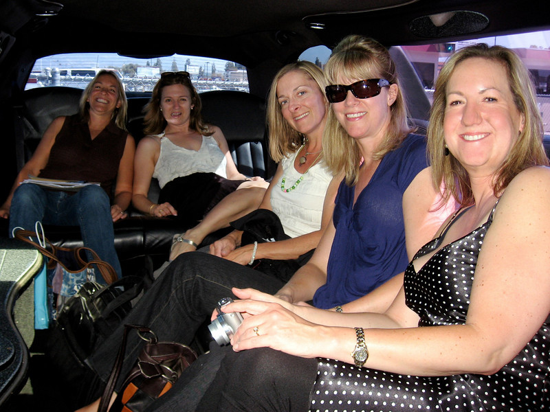 in the limo before we figured out it wouldn't start...