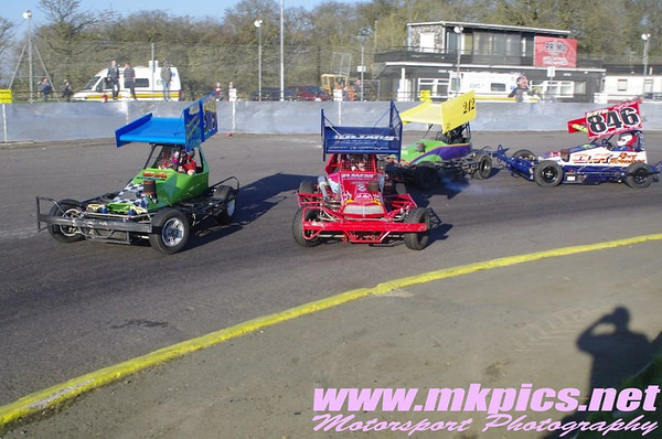 BriSCA F2 Stockcars, Northampton, 9 March 2014