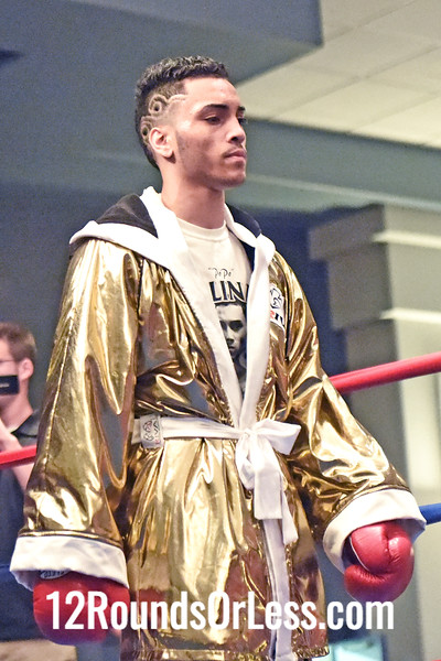 """Bout 7 = Main Event, Alejandro """"PoPo"""" Salinas(Red Wrist Wraps), Youngstown -vs- Bryant Bivens(Blue Wrist Wraps), Winchester, VA, 135 lbs"""