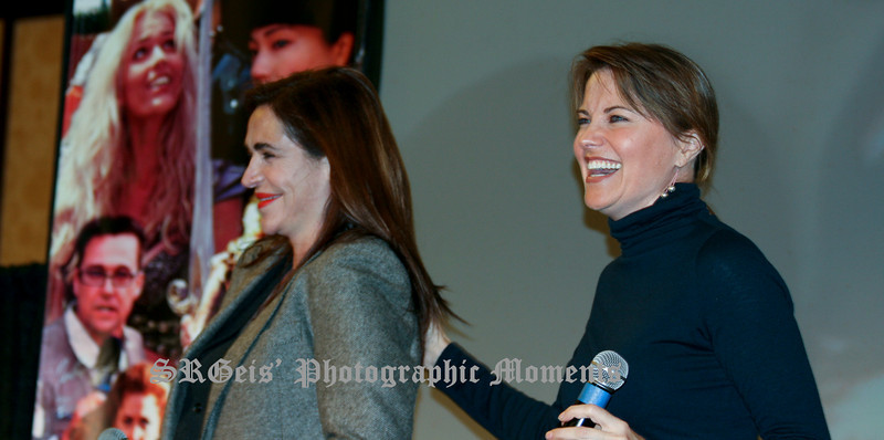 Lucy Lawless and Claire Stansfield