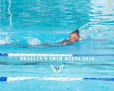 Braelyn Swim Meets 2019