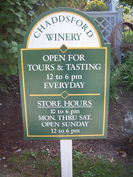 Welcome to wine country.