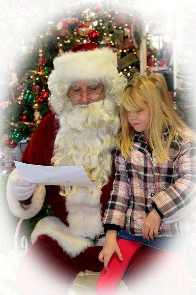 Santa Visits New Glarus