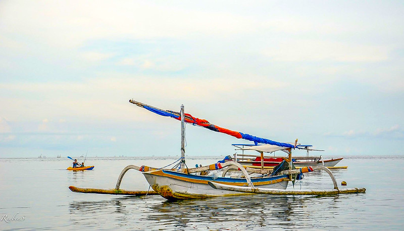 Traditional fishing boat called the Jukung