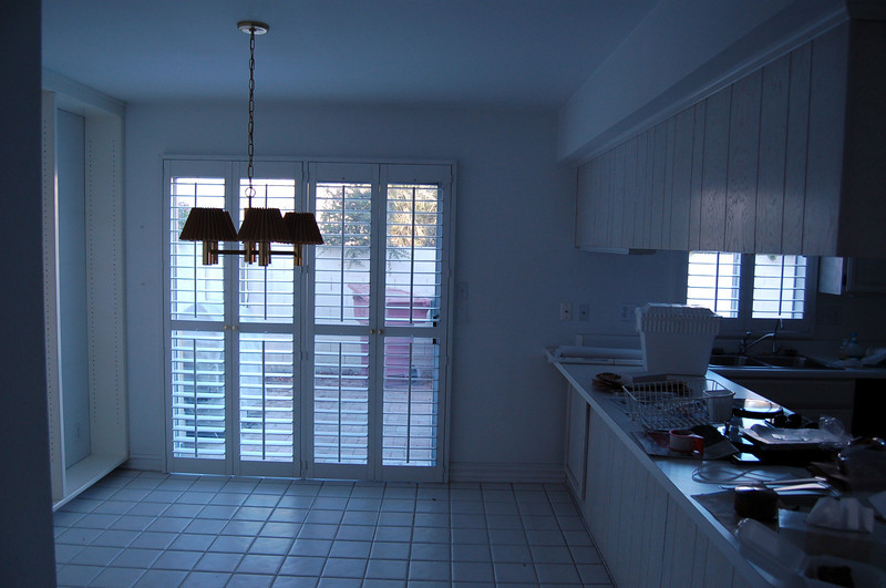 The eating area of the kitchen.