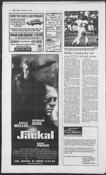 Daily Trojan, Vol. 132, No. 54, November 13, 1997