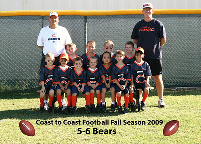 Coast to Coast Football Fall Season 2009 Team Photos