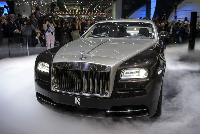 . The new Rolls Royce the Wraith model car is presented in world premiere at the British car maker\'s booth on March 5, 2013 on the press day of the Geneva car Show in Geneva. The Geneva International Motor Show opened its doors to the press under a dark cloud, with no sign of a speedy rebound in sight for the troubled European market. The event, which is considered one of the most important car shows of the year, will again be heavily marked by the crisis in Europe after an already catastrophic year in 2012.   FABRICE COFFRINI/AFP/Getty Images