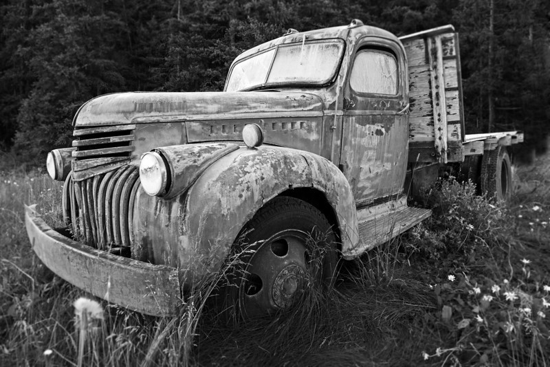 A 1942 Chevy Truck abandoned from the mining days, Colorado
