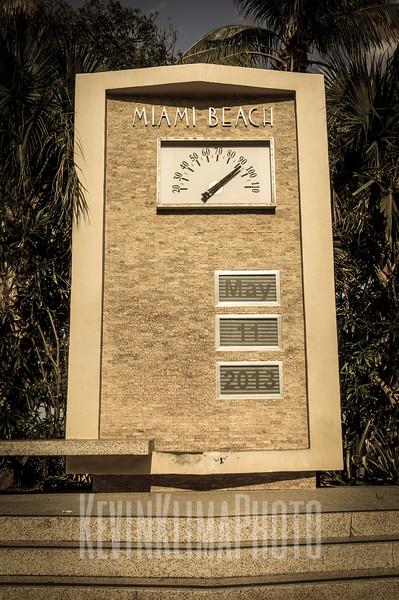 Miami Beach Temperature and Date