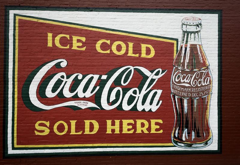 GA, Douglasville - Coca-Cola Wall Sign  02