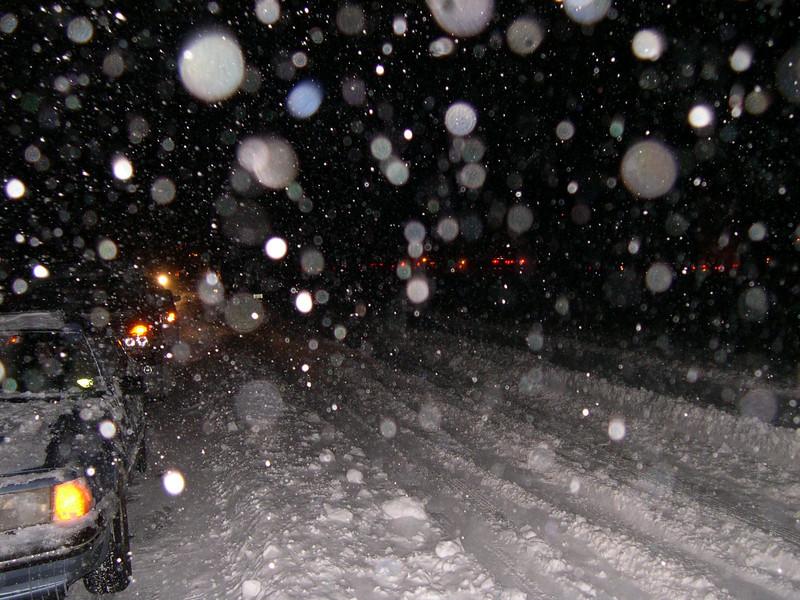 Snow hits on I 64 7 pm