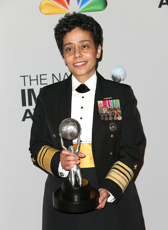 . Chairman\'s Award honoree United States Navy Vice Admiral Michelle Janine Howard poses in the press room during the 44th NAACP Image Awards at The Shrine Auditorium on February 1, 2013 in Los Angeles, California.  (Photo by Frederick M. Brown/Getty Images for NAACP Image Awards)
