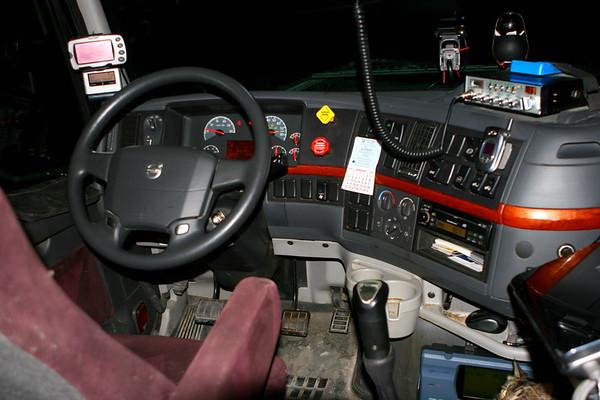 Inside my 2008 Volvo VN670 truck
