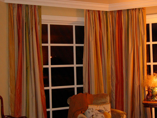 These drapes were prettier than the picture.  the colors were very soft and the fabric so beautiful.