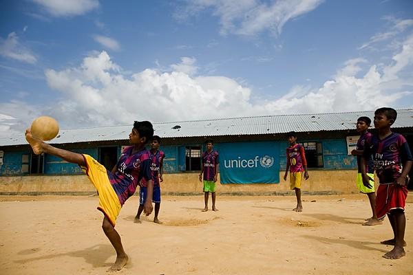 Rohingya Boys Playing Football at Kutupalong- CAMP-2.