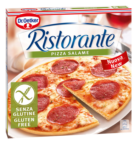 303099Dr.OETKER GLUTEENIVABA Salaamipitsa 315g Pizza Ristorante UUS 4001724027980