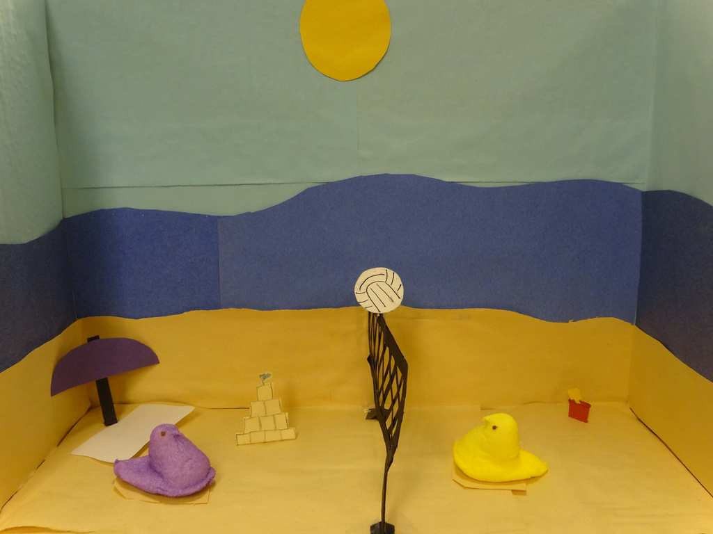 """. \""""Beach Peeps,\"""" by Katryna Fox, ninth-grade student at Humboldt High School in St. Paul"""