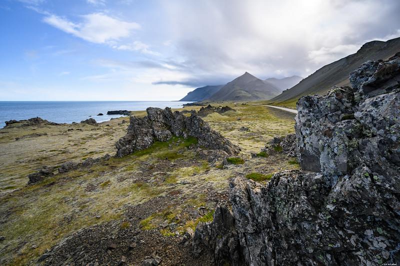 Nearby rocks