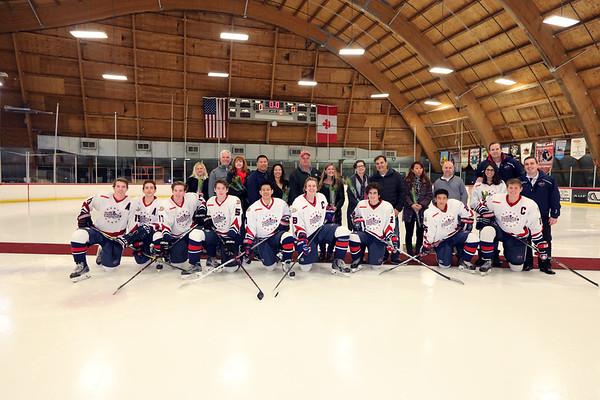 Beckman Hockey Senior Night vs PYLUSD 01.13.18