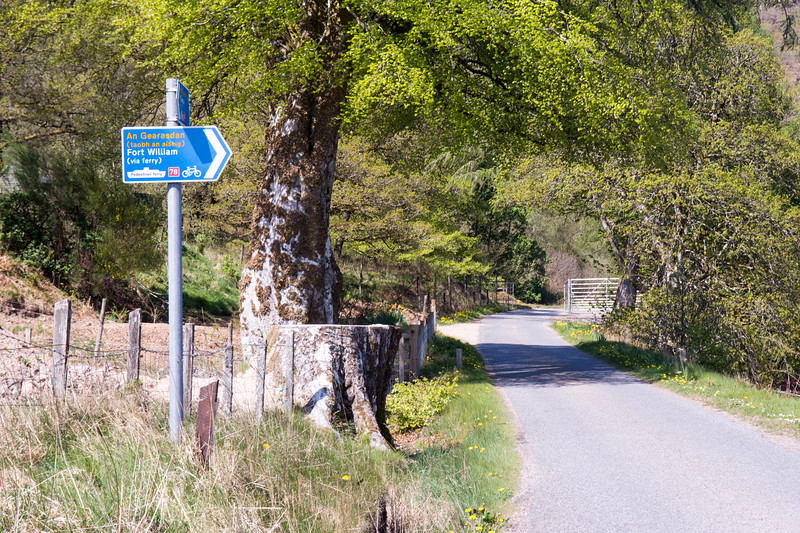 Caledonia Way cycle route sign