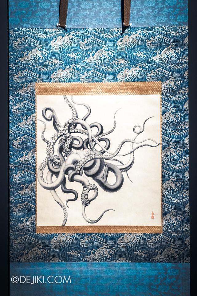 Bulgari SERPENTIform exhibition at ArtScience Museum - Octopus painting
