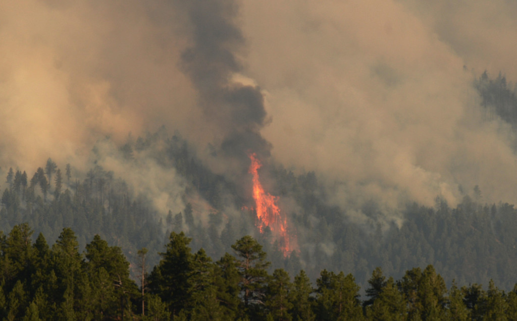 . CONIFER, CO. - June 19: Lime Gulch Fire in Jefferson County. Conifer, Colorado. June 19, 2013. A wildfire burning in south Jefferson County forced residents to evacuate their homes. (Photo By Hyoung Chang/The Denver Post)
