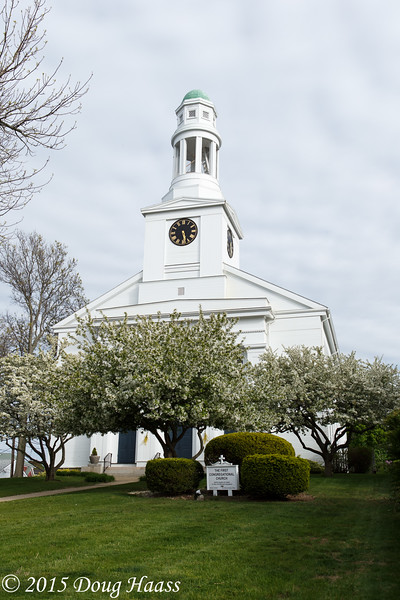 The First Congregational Church in Rockport, MA.