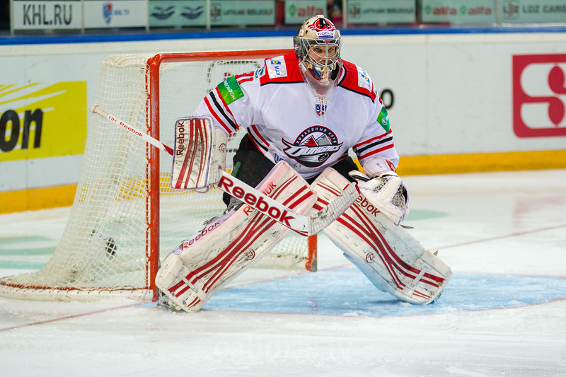 Goaltender of Donbass Donetsk Christopher Holt (31)