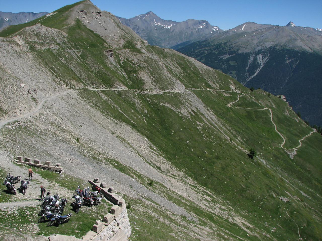 de laatste flank van Passo Mulatierra