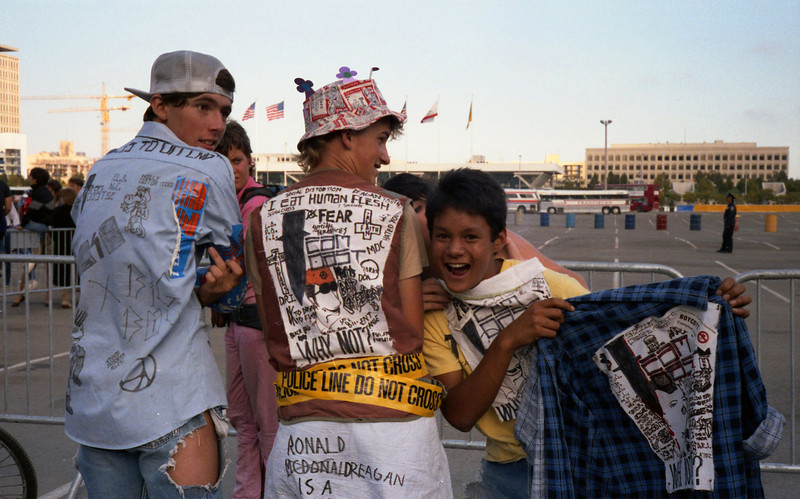 Young punk rock kids at the 1984 Democratic convention protest
