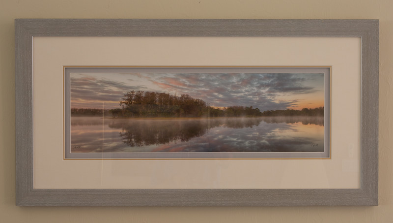 Harns marsh morning with gray frame