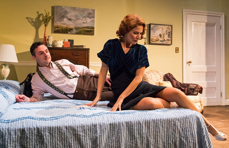 Max von Essen and Elisabeth Gray in YOURS UNFAITHFULLY by Miles Malleson. Photo: Richard Termine.